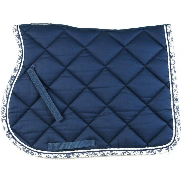 Lami-Cell Saddle pad PROMISE, all purpose, navy-white
