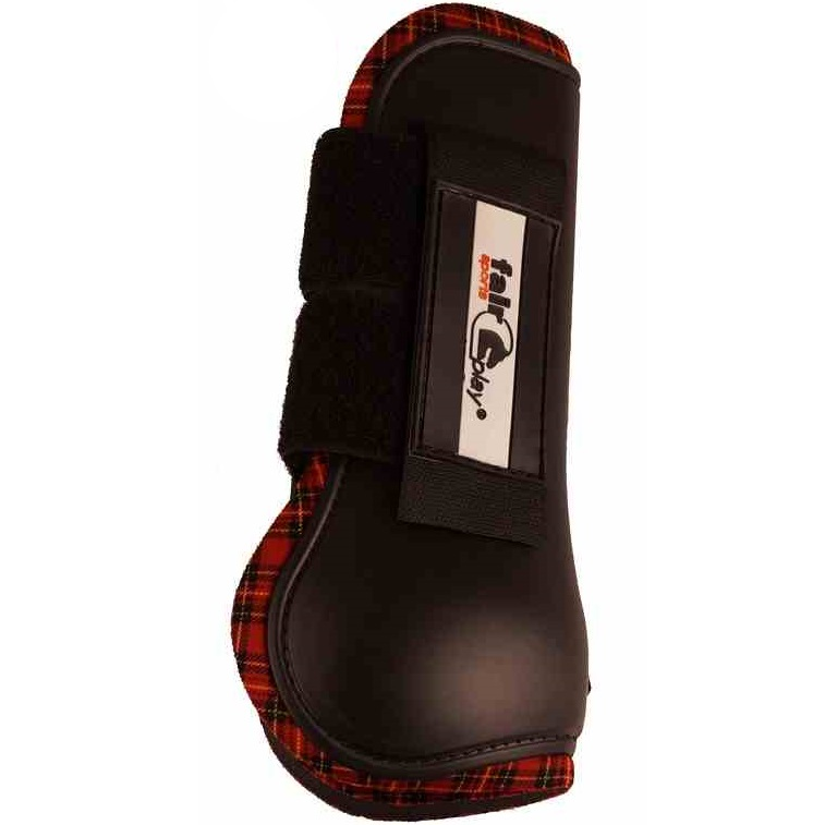 Fair Play Boots SPORT front neopren, black/red check