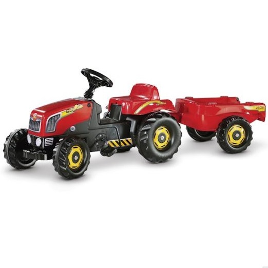 Rolly Toys RollyKid red tractor with trailer